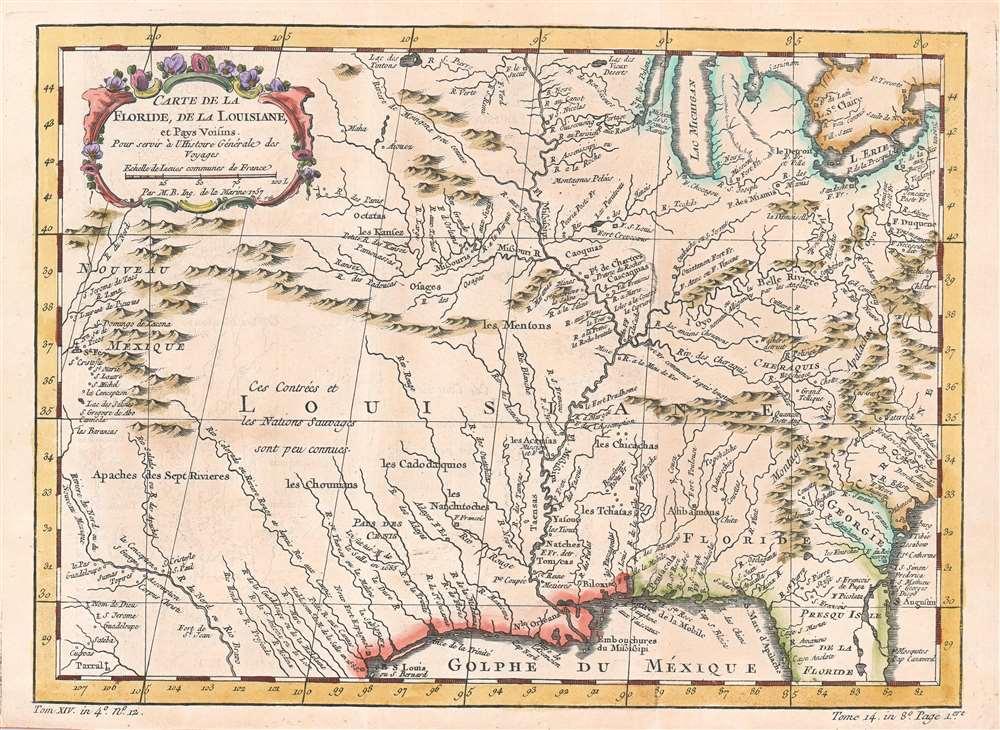 Carte de la Floride, de la Louisiane, et Pays Voisins. - Main View