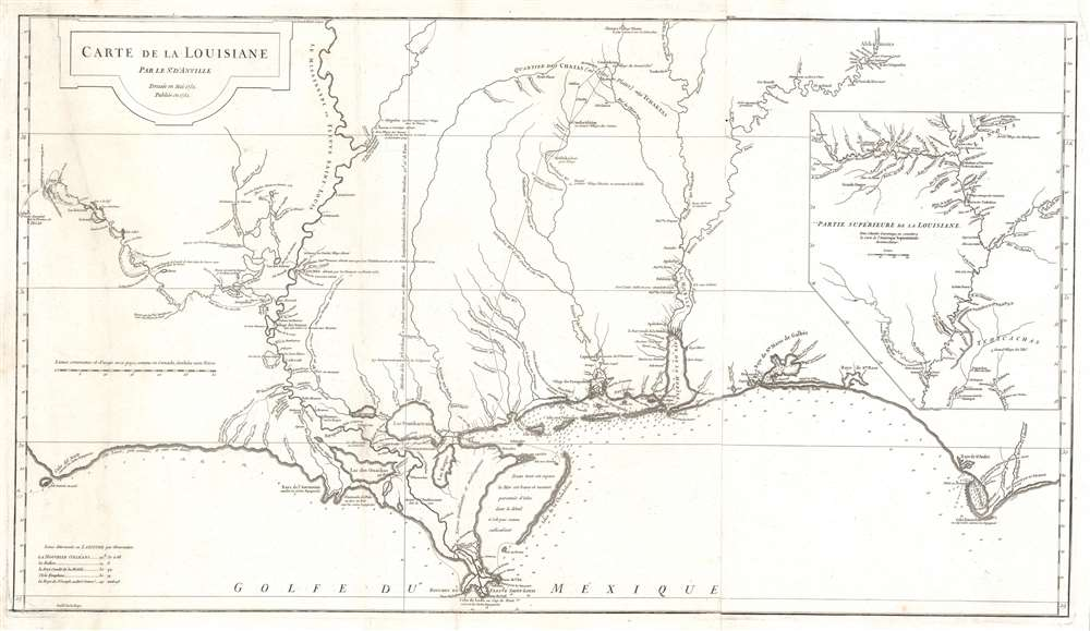 Carte de la Louisiane. - Main View