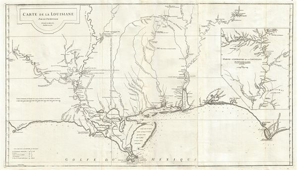 Carte de la Louisiane.