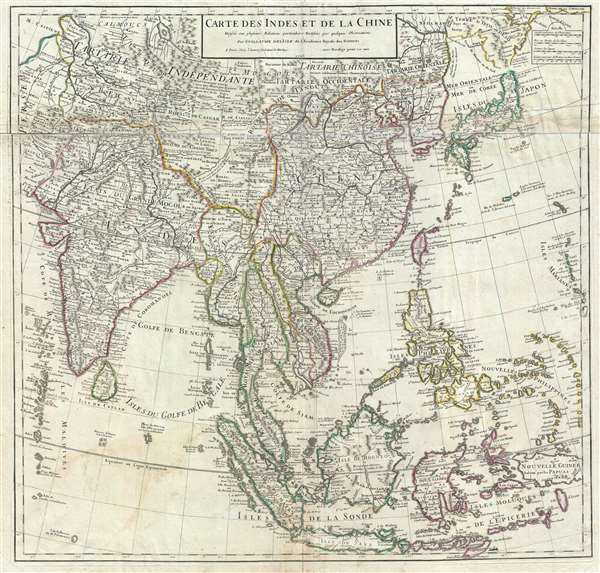 Carte des Indes et de la Chine.