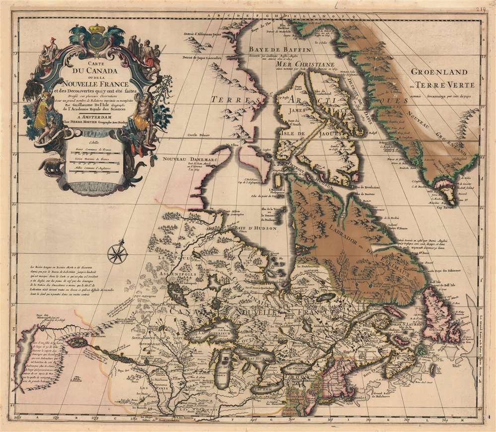Carte du Canada ou de la Nouvelle France et des Decouverts qui y ont été faites... - Main View