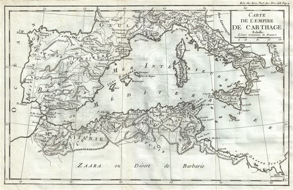 Carte de l'Empire de Carthage.