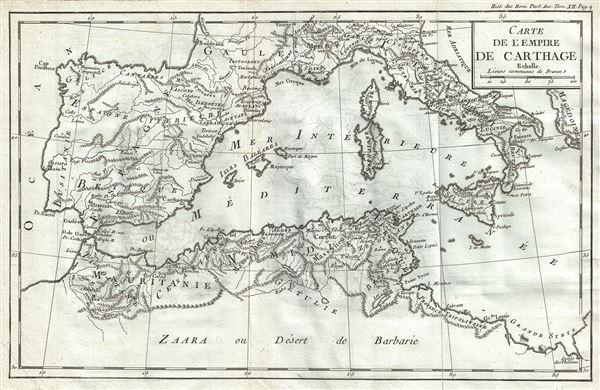 Carte de l'Empire de Carthage. - Main View