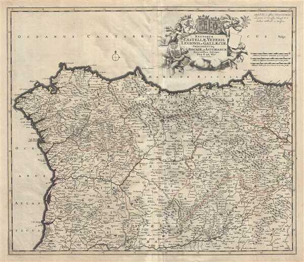 Regnorum Castellae Veteris, Legionis, et Gallaeciae principatuumq Biscaiae, et Asturiarum Accuratissima Descriptio.