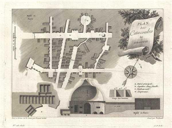 Plan des Catacombes de Syracuse.