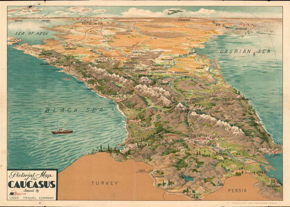 Pictorial Map of the Caucasus. - Main View