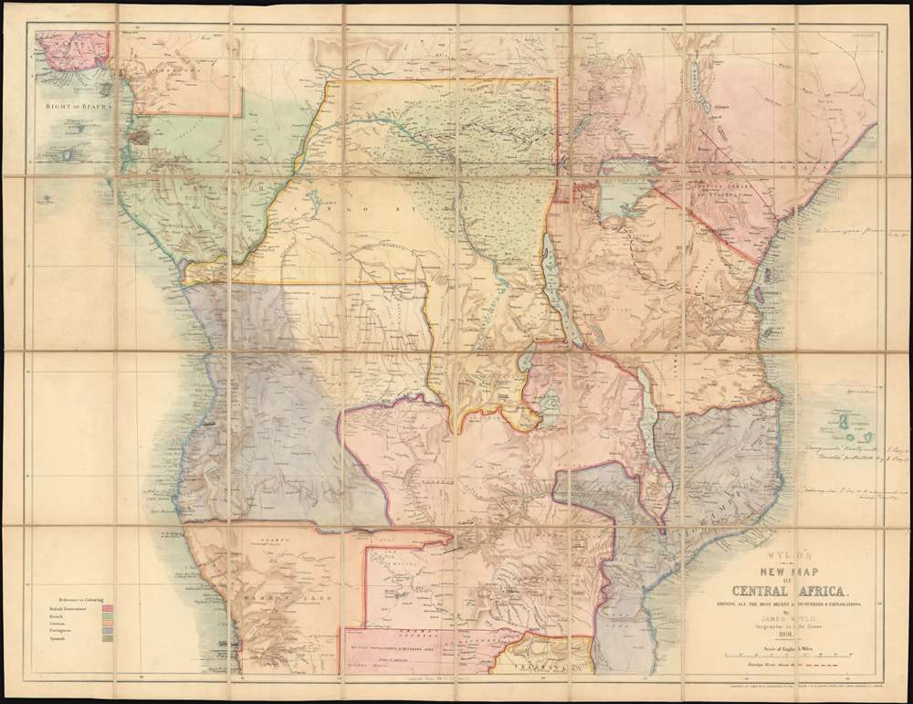 Wyld's New Map of Central Africa, shewing all the most recent discoveries and explorations. - Main View