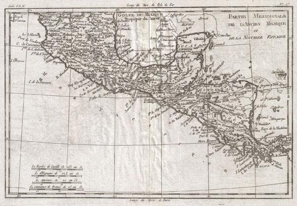 Partie Meridonale De L'Ancien Mexique Ou De La Nouvelle Espagne