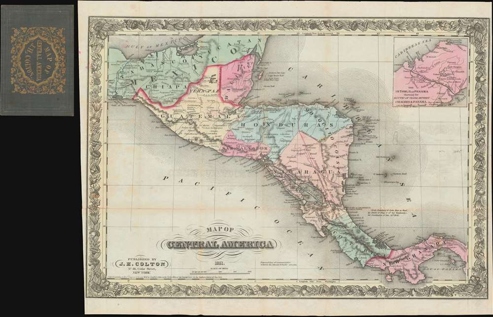 Map of Central America 1851. - Main View