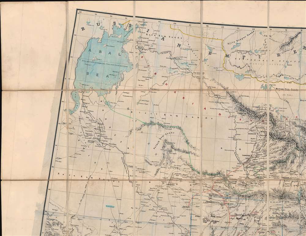 [Turkestan with the adjoining portions of the British and Russian territories.] - Alternate View 3
