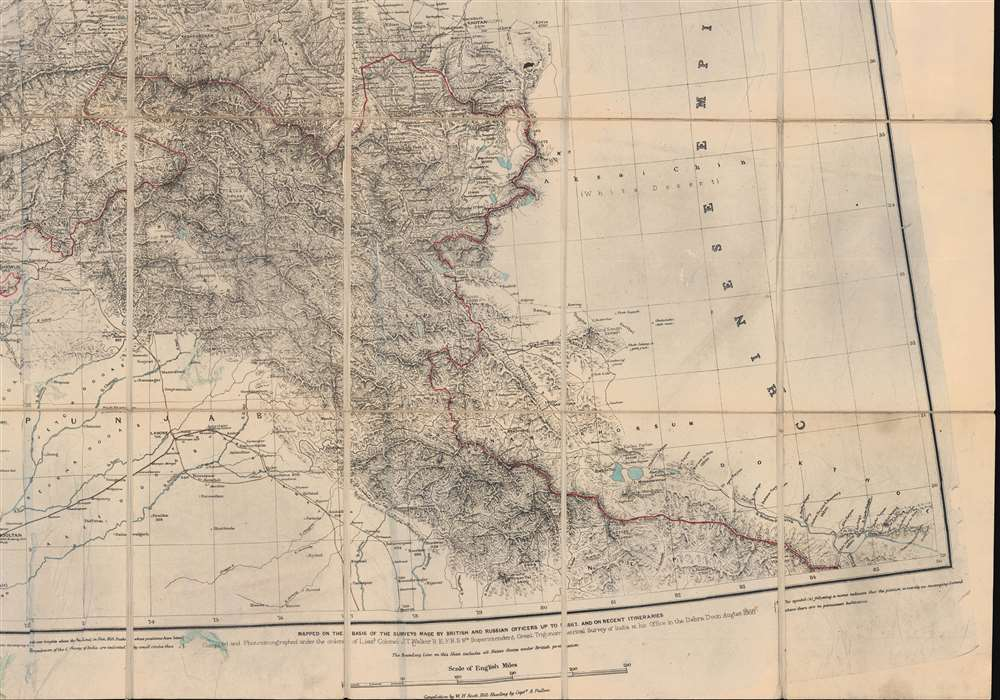 [Turkestan with the adjoining portions of the British and Russian territories.] - Alternate View 6