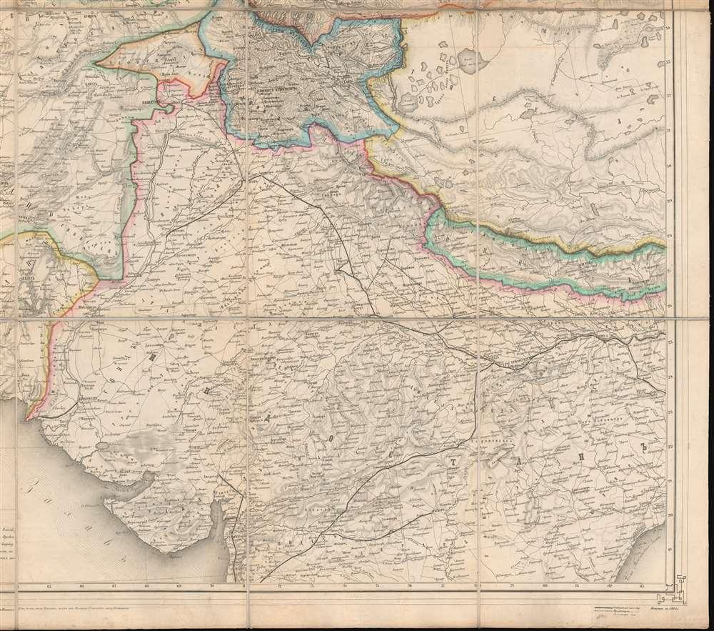 Карта Средней Азии. / Map of Central Asia. - Alternate View 5
