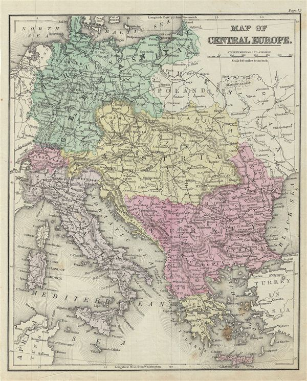 Map of Central Europe.