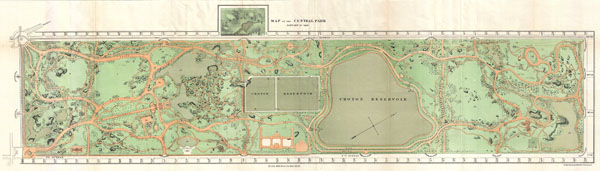 Map of the Central Park January 1st 1870.