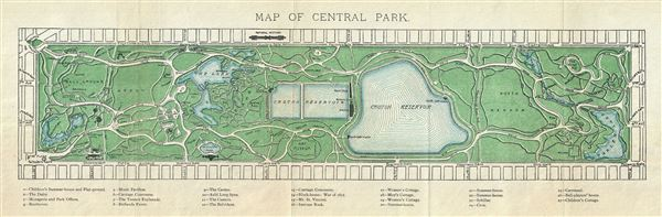 Map of Central Park. - Main View
