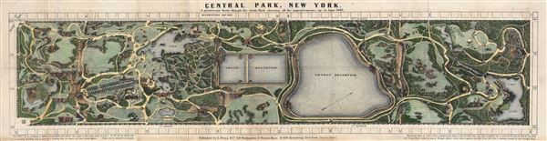 Central Park, New York, A picturesque Guide through the whole Park showing all the improvements up to June 1865.
