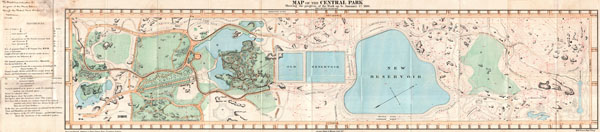 Map of the Central Park Showing the Progress of the Work up to January 1st, 1860.
