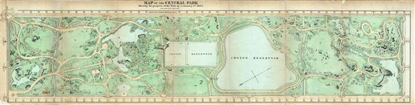 Map of the Central Park Showing the progress of the Work on January 1st 1867. - Main View