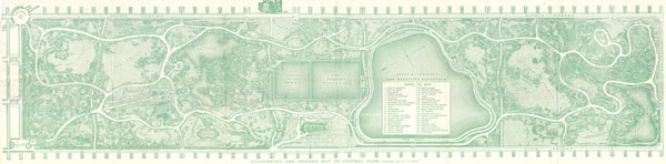 Illustrated and Indexed Map of Central Park.
