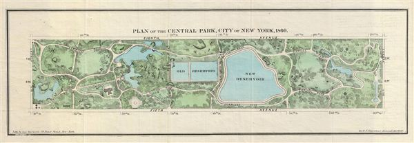 Plan of the Central Park, City of New York, 1860. - Main View