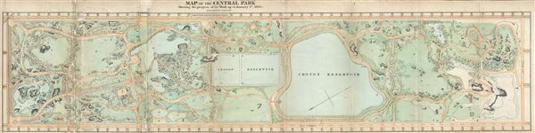 Map of the Central Park Showing the progress of the Work up to January 1st, 1865. - Main View