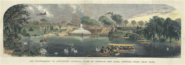 Art Supplement to Appleton's Journal, View of Terrace and Lake, Central Park, New York. - Main View