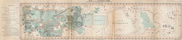 Map of the Central Park Showing the progress of the Work up to January 1st 1861.