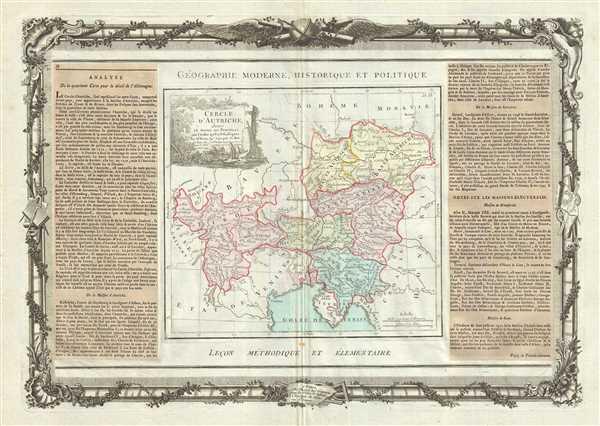 Cercle D'Autriche : divise en toutes ses Provinces, tant Civiles qu'Ecclesiastiques. - Main View