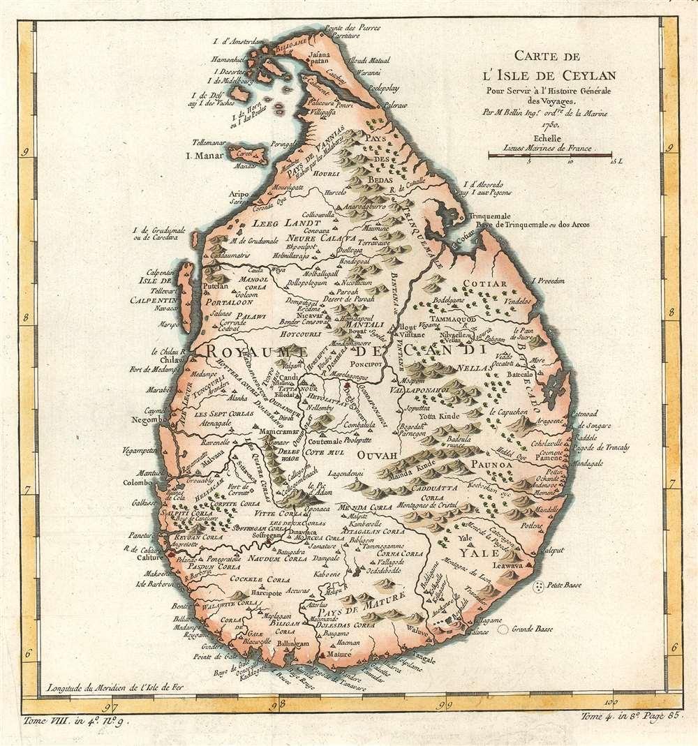 Carte de L'Isle de Ceylon. - Main View