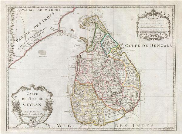 Carte de L'Isle de Ceylan.