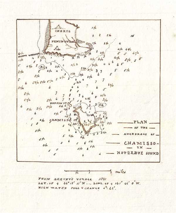 Plan of the Anchorage of Chamisso in Kotzebue Sound.