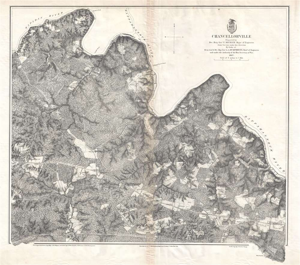 Chancellorville.: Geographicus Rare Antique Maps on