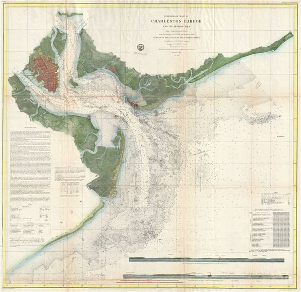 Preliminary Chart of Charleston Harbor and its Approaches. - Main View