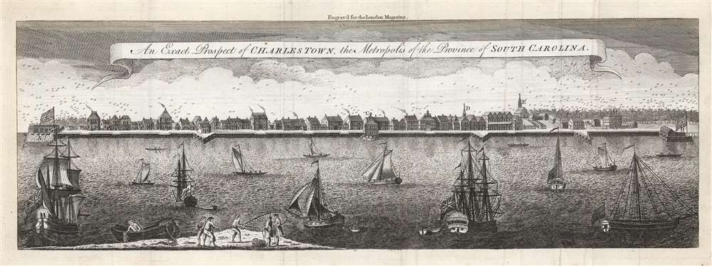An Exact Prospect of Charlestown, the Metropolis of the Province of South Carolina. - Main View