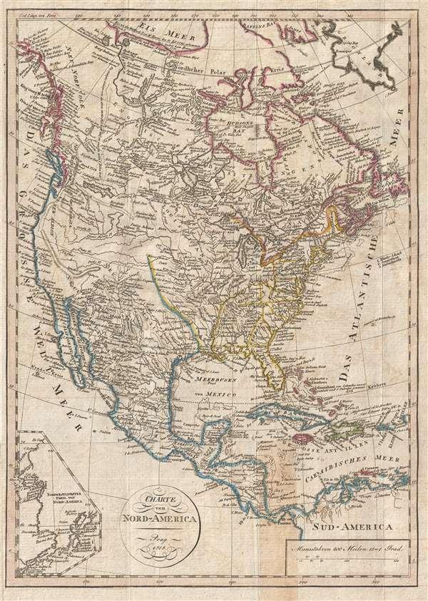 Charte von Nord-America Prag 1818.