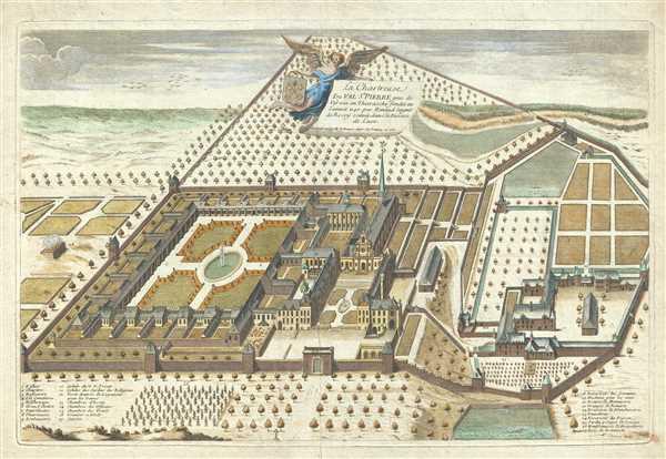 La Chartreuse du Val St. Pierre pres de Vervin en Thierasche fondée en l'année 1140 par Renaud Seignr. De Rosoy scituée dans le Diocese de Laon.