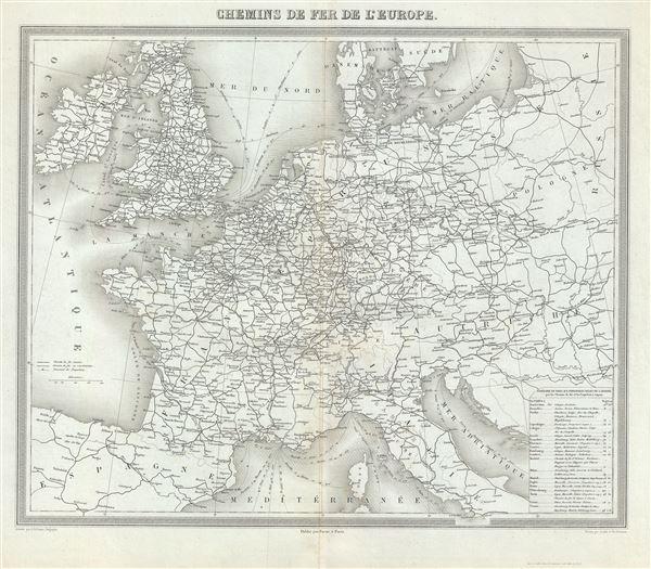 Chemins de fer de l'Europe.