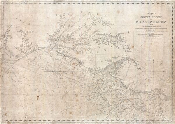 The Coast of the United States of North America, from New York to St. Augustine drawn and regulated according to the best Surveys and Astronomical Observations by Enmund Blunt.