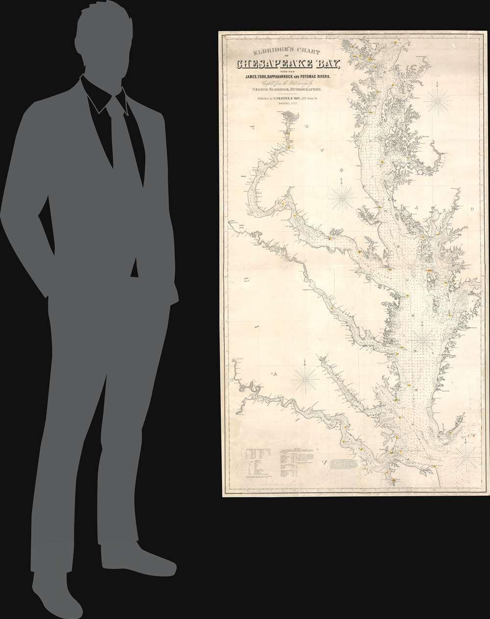 Eldridge's Chart of Chesapeake Bay, with the James, York, Rappahannock and Potomac Rivers. - Alternate View 1