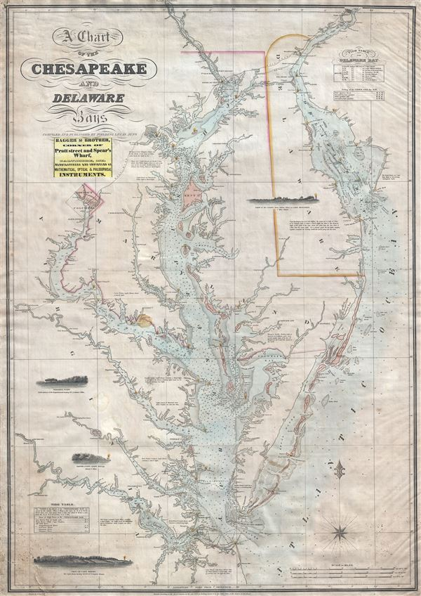 A Chart of the Chesapeake and Delaware Bays. - Main View