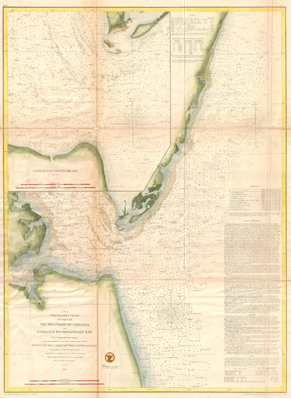(C No. 2) Preliminary Chart of Part of the Sea Coast of Virginia and Entrance to the Chesapeake Bay. - Main View