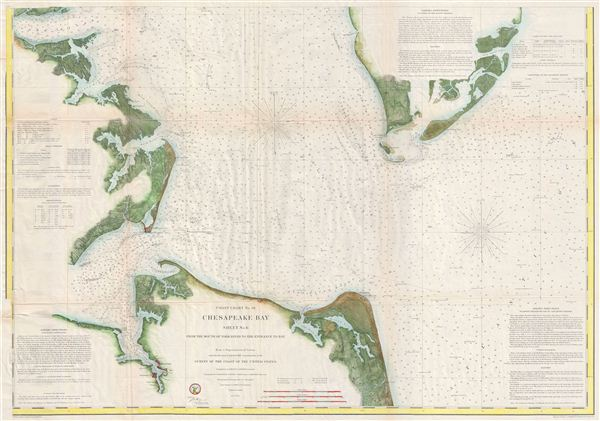 Coast Chart No. 36 Chesapeake Bay Sheet No. 6 From the Mouth of the York River to the Entrance to Bay.