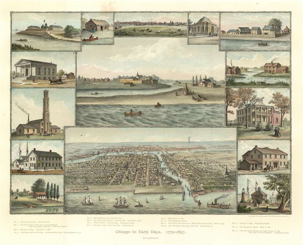 Chicago in Early Days.  1779=1857