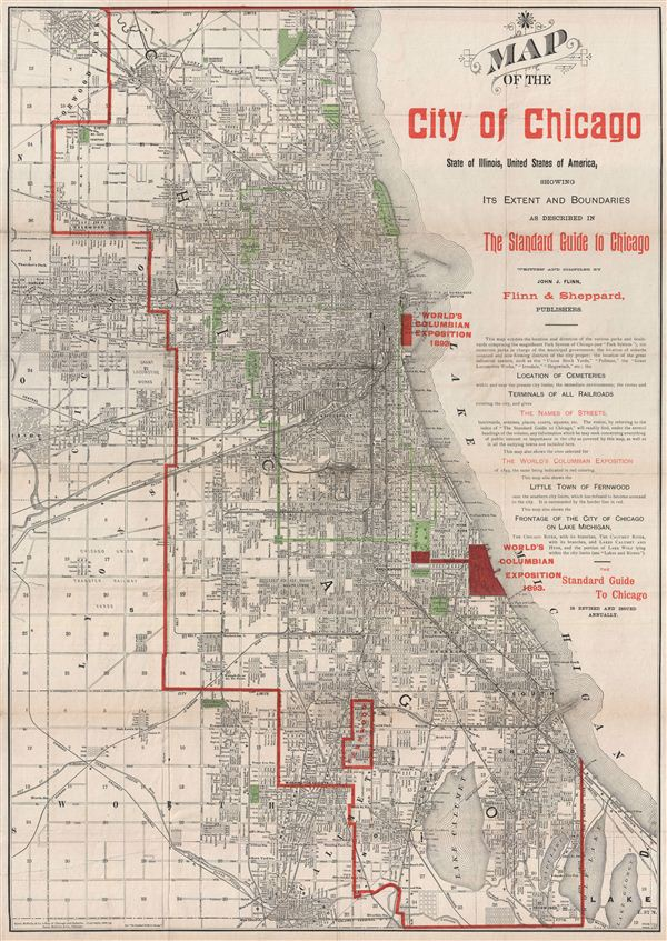 Map of the City of Chicago State of Illinois United States of