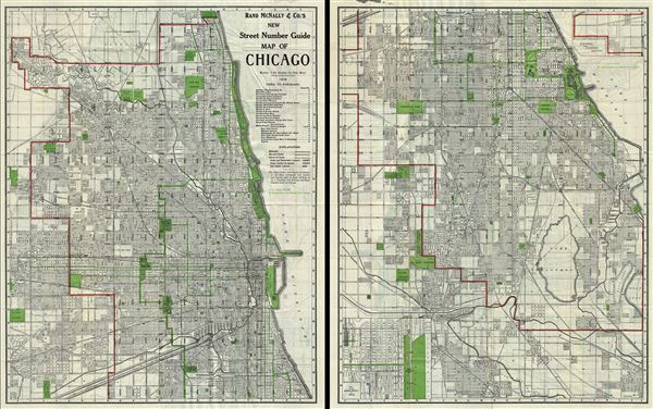 Rand McNally and Co.'s New Street Number Guide Map of Chicago