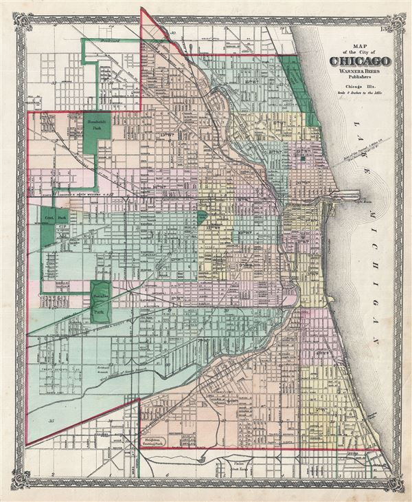 Map of the city of Chicago. - Main View