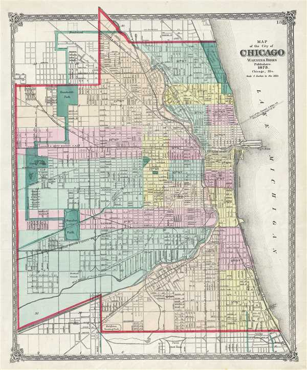 Map of the city of Chicago.