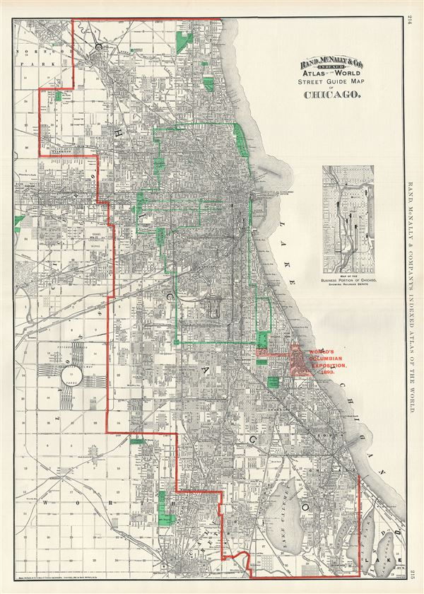 Street Guide Map of Chicago. - Main View