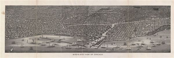 Bird's Eye View of Chicago.