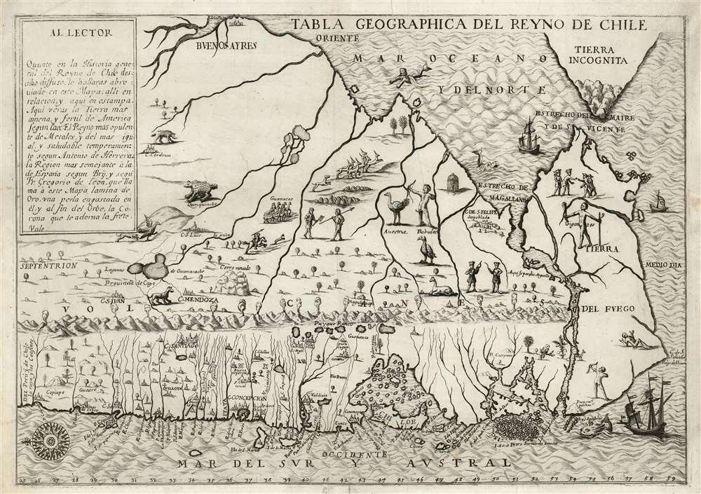 Tabla Geographica del Reyno de Chile. - Main View